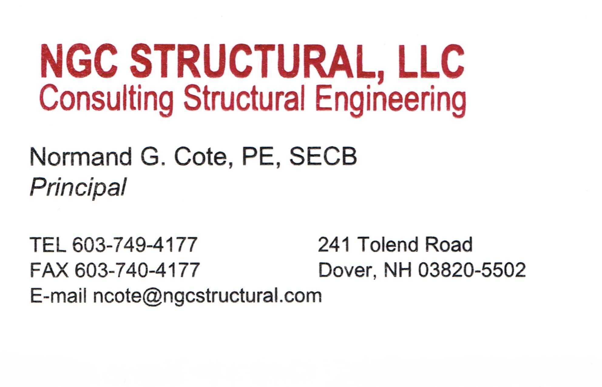NGC Structural LLC company